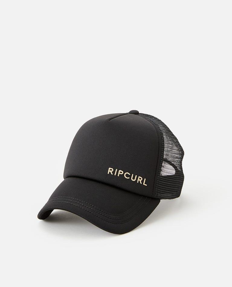 Classic Surf Trucker Hat in Black/Gold