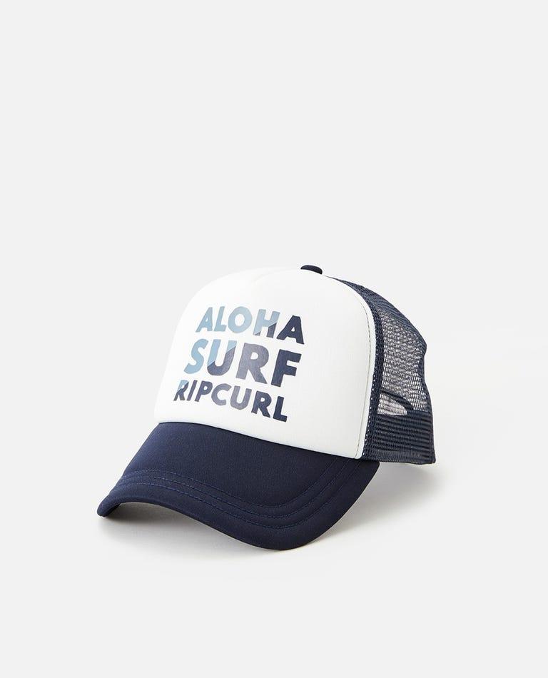 Aloha Trucker Hat in Navy