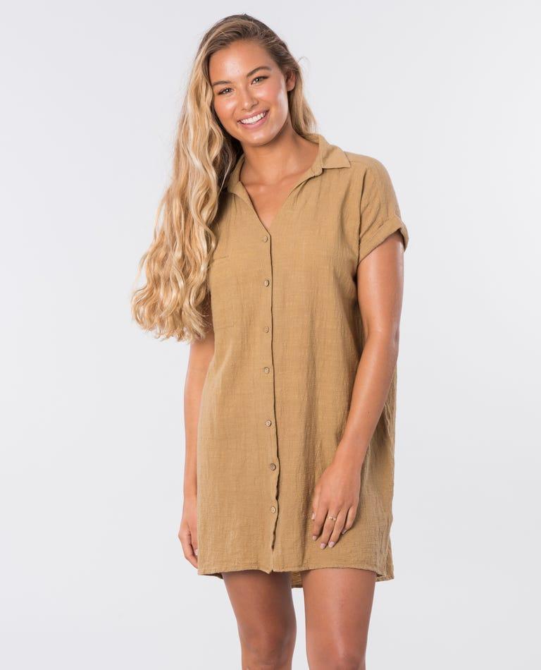 The Adrift Dress in Mustard