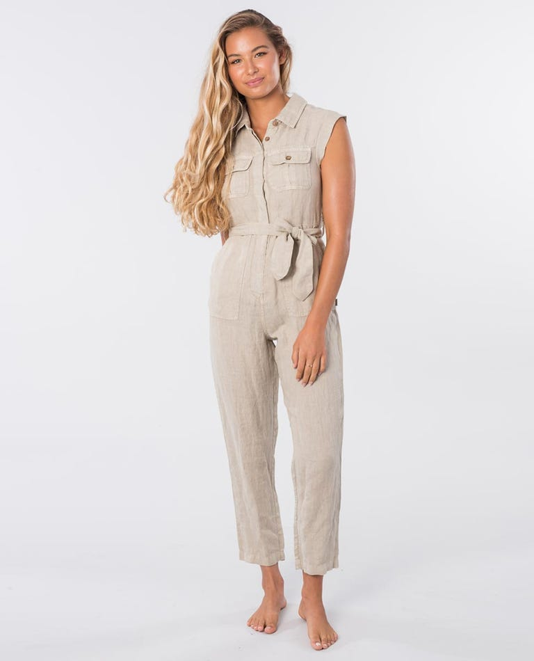 The Off Duty Boiler Suit in Stone Blue