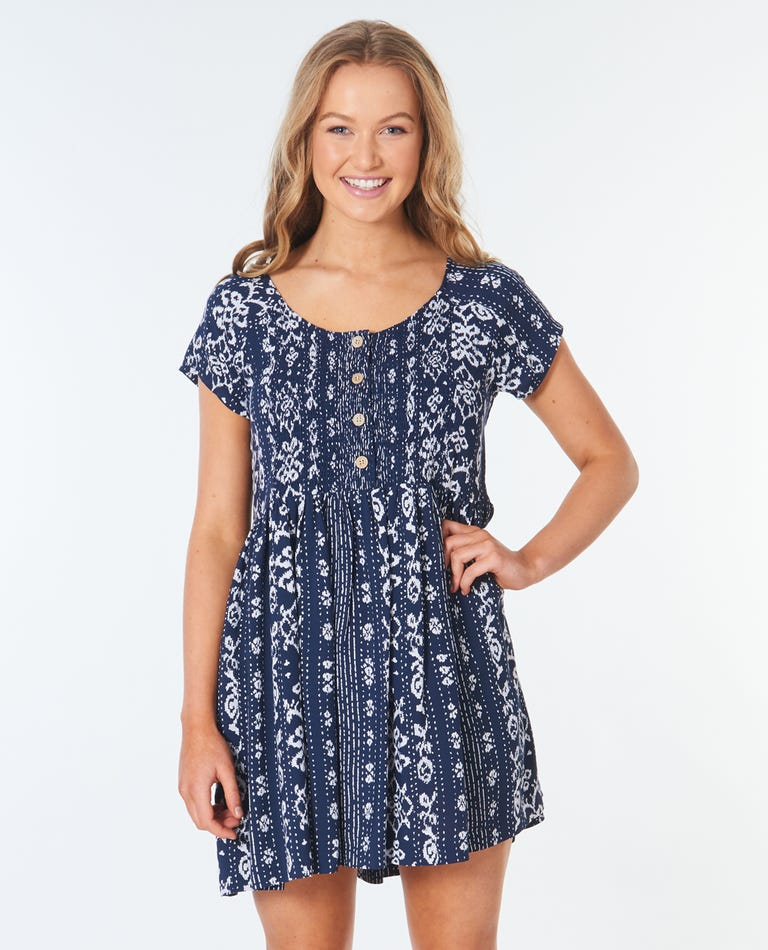 Surf Shack Dress in Navy