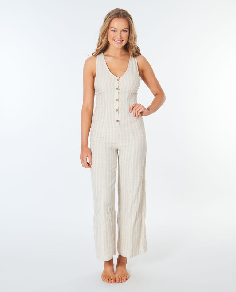 Surf Shack Jumpsuit in Natural