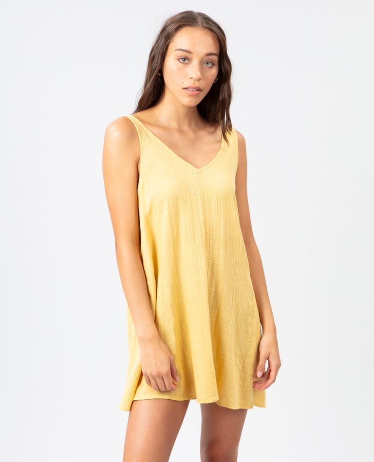 Classic Surf Cover Up in Gold