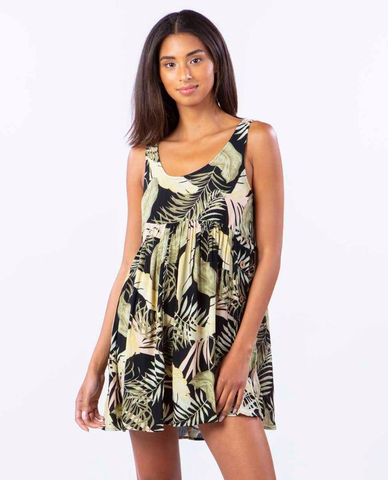 Coastal Palms Dress in Black