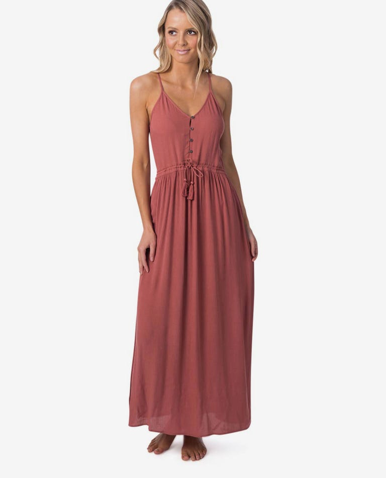 Nelly Maxi Dress in Hot Sauce