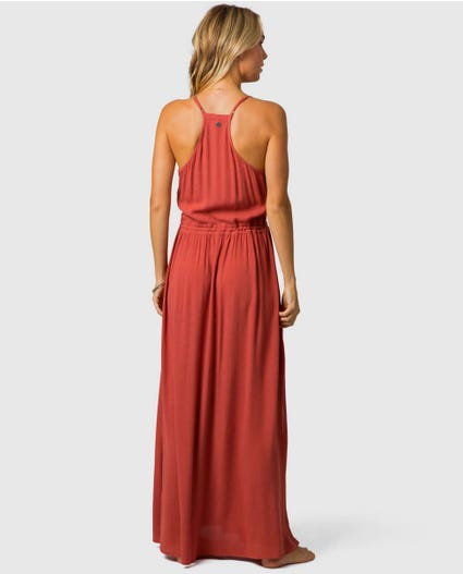 Nelly Maxi Dress in Rust