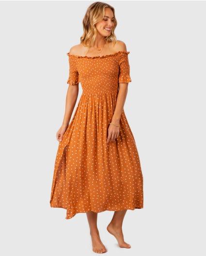 Hanalei Spot Dress in Ginger