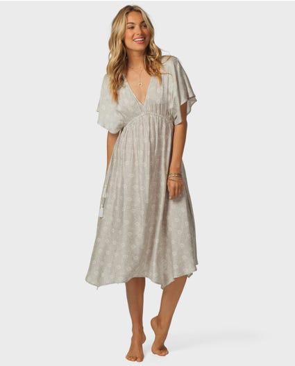 Desert Dreams Midi Dress in Grey