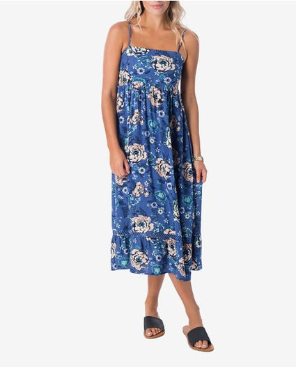 Island Love Midi Dress in Blue