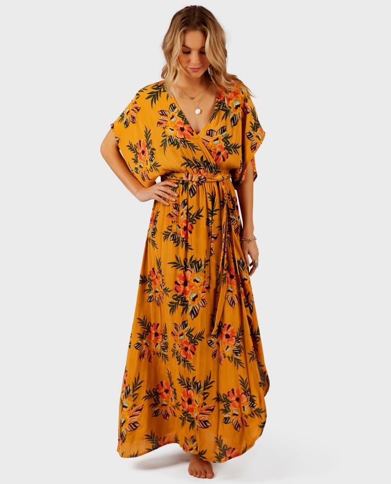 Sunchasers Maxi Dress in Mustard