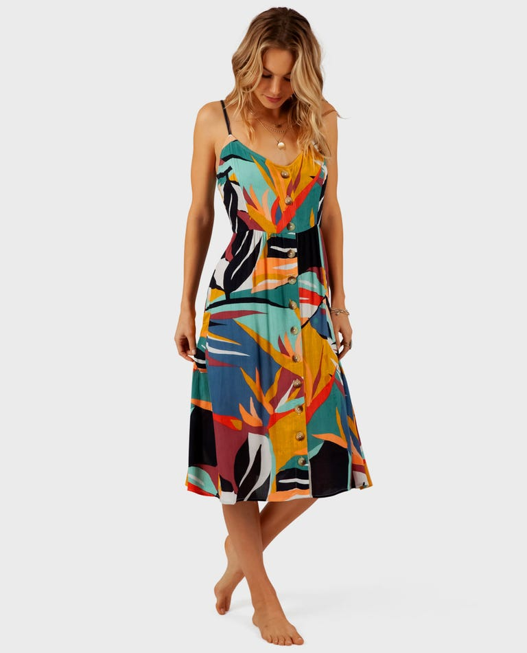 Seascape Midi Dress in Multi