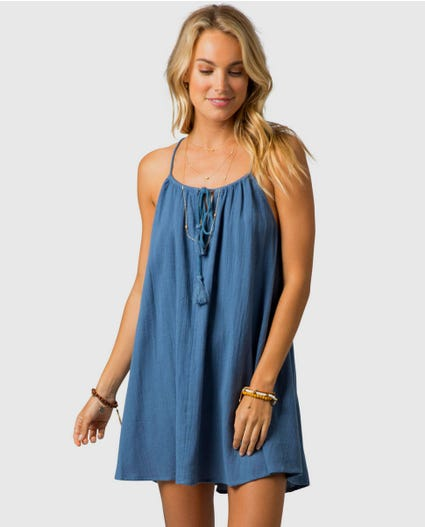 Classic Surf Essentials Cover Up in Slate Blue