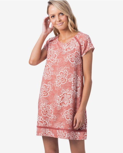 Coastal Tide Shift Dress in Rust