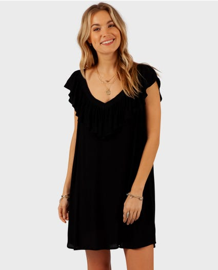 Classic Surf Cover Up in Black