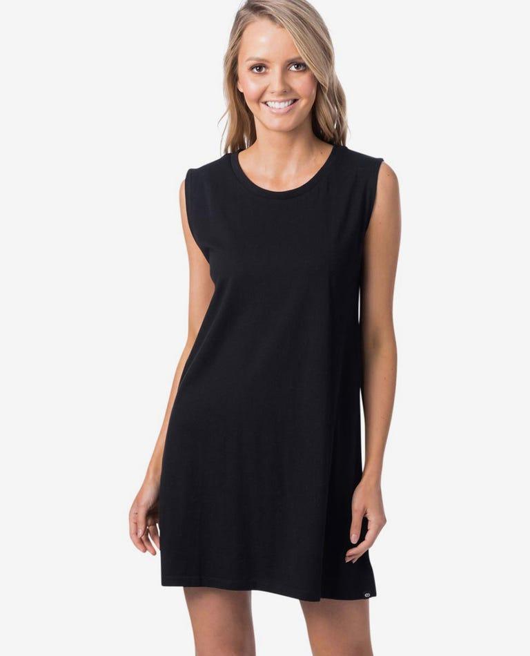 Essentials Tank Dress in Black