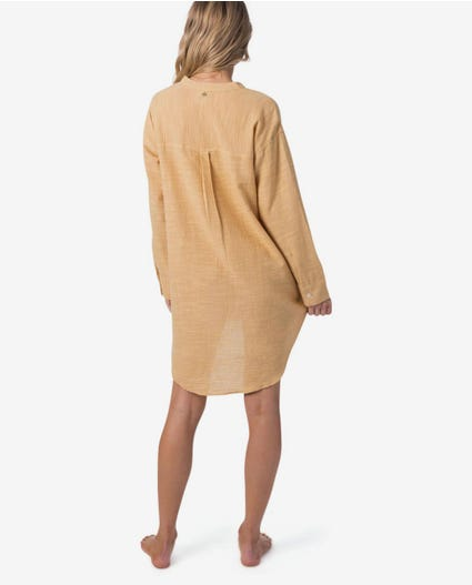 Goa Beach Dress in Mustard