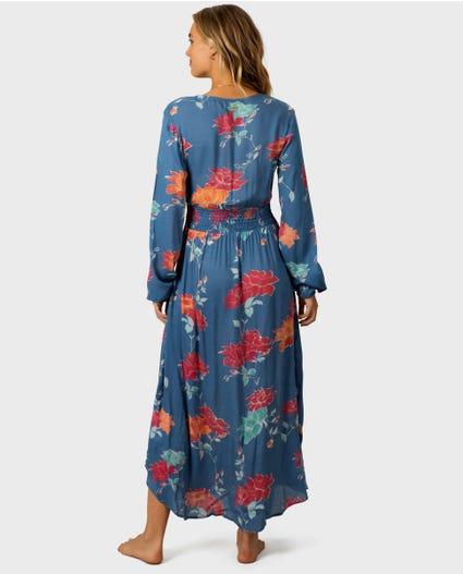 Moon Bay Maxi Dress in Slate Blue