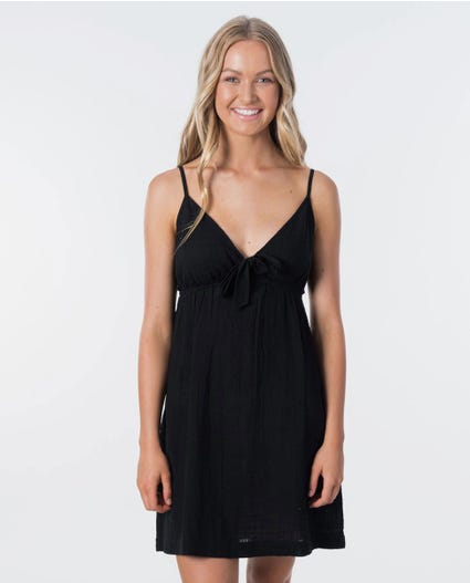 Holly Tie Dress in Black