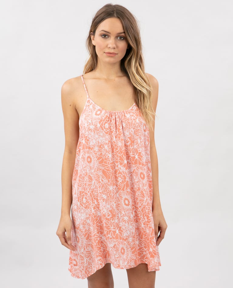 Golden Days Floral Cover Up in Peach