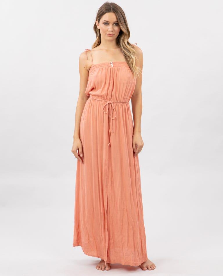 Sunset Glow Maxi Dress in Peach