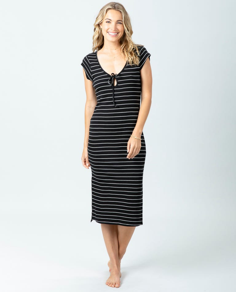 Surf Essentials Midi Dress in Black