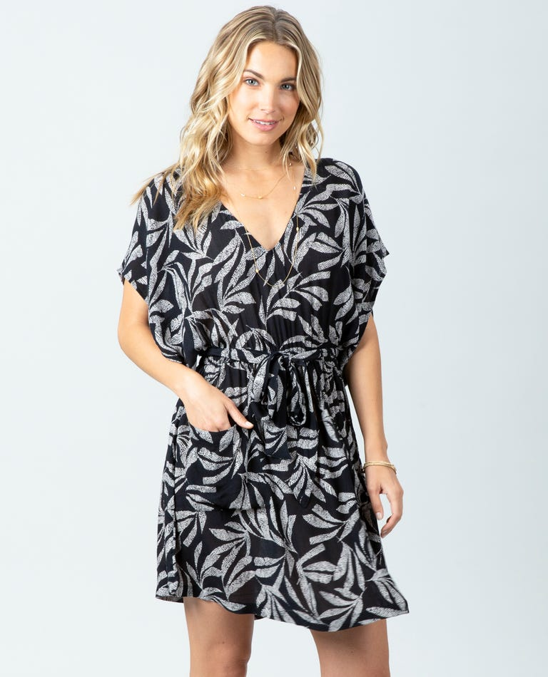 Ooh La Leaf Dress in Black