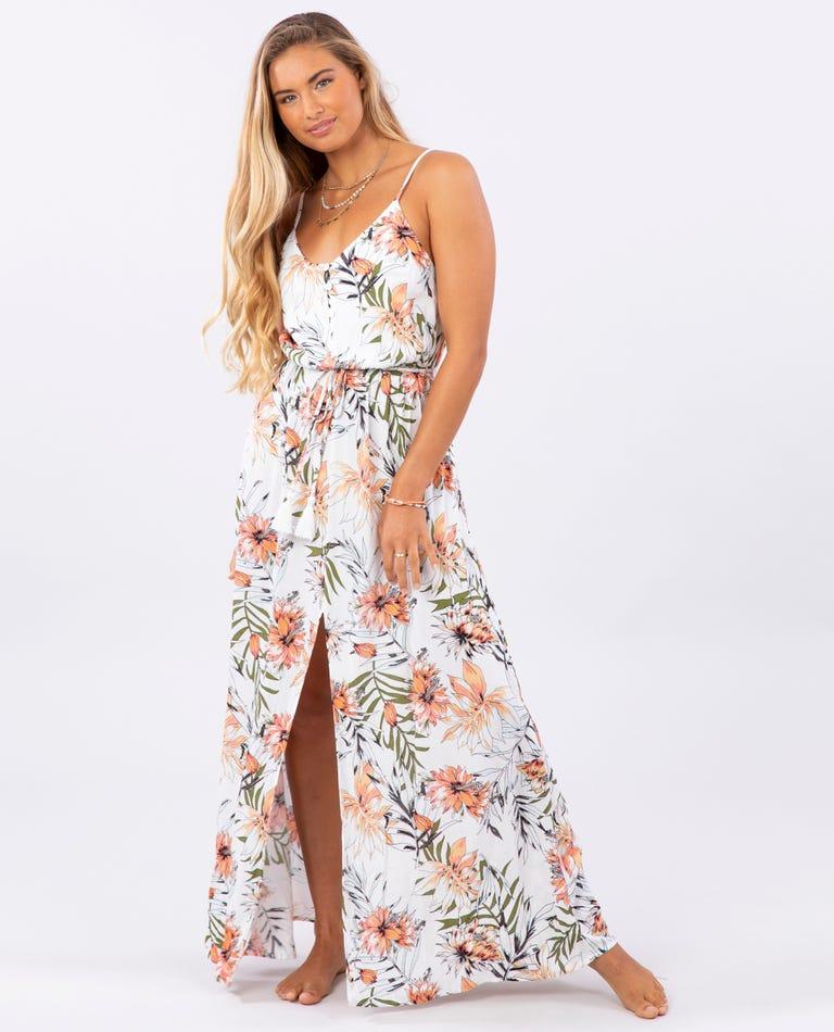 Playa Blanca Maxi Dress in White