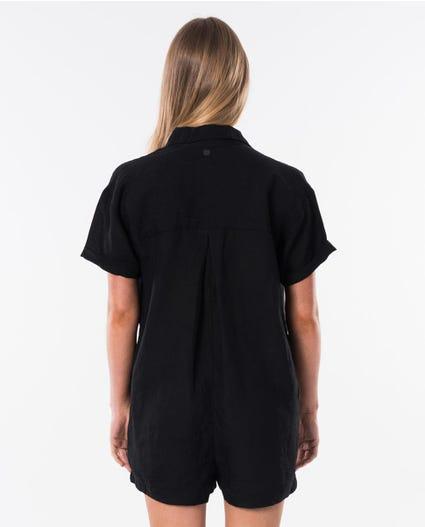Beachcomba Linen Jumpsuit in Black