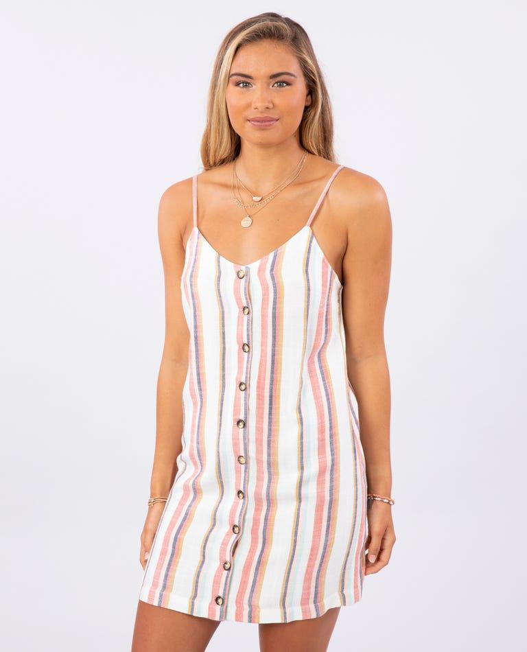 Seaport Strip Dress in Multi