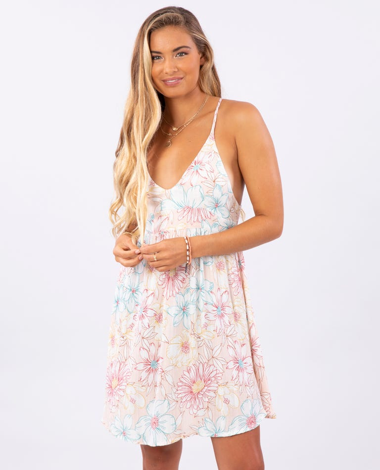 Fiesta Floral Cover Up in Blush