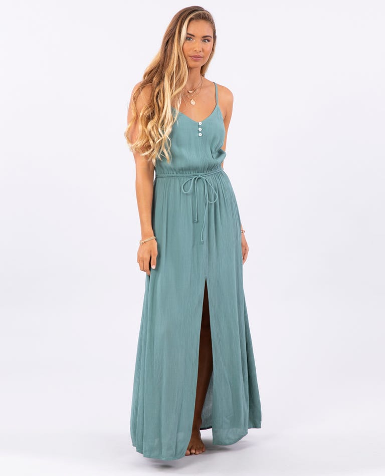 Cruzin Maxi Dress in Forest Green