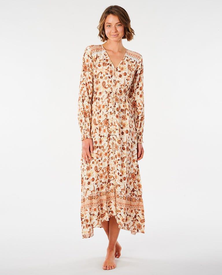 Desert Dawn Maxi Dress in Cream