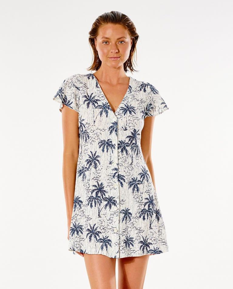 Tropics Dress in Bone