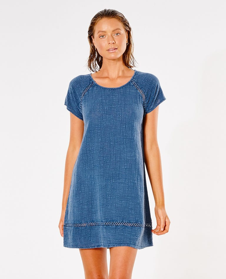Classic Surf Shift Dress in Navy