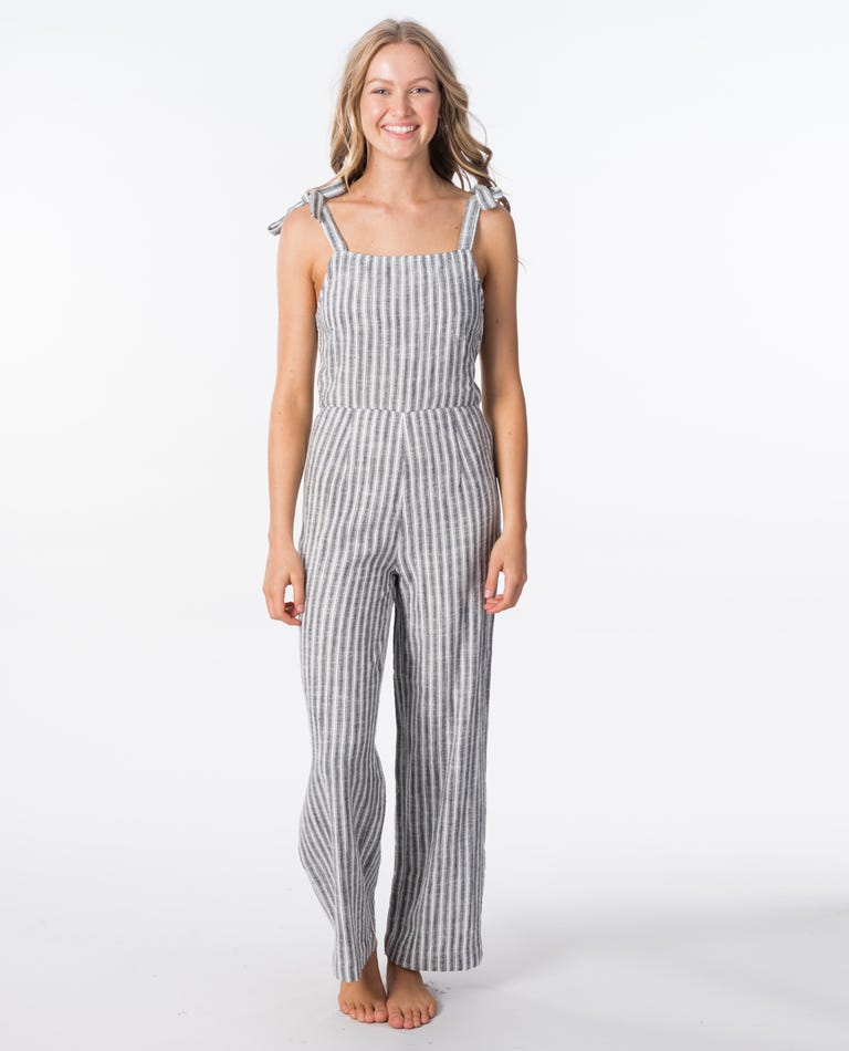 Lakeshore Jumpsuit in Black/White