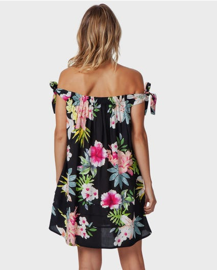 Sweet Aloha Dress in Black