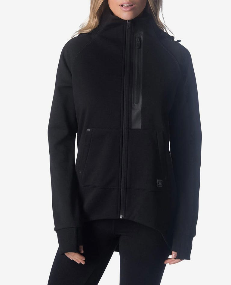 Anti-Series Flux Zip Up Hood in Black
