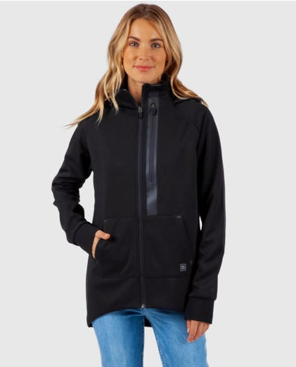 Anti-Series Flux Zip Up Hood in Black