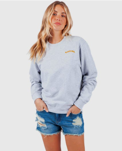 Boston Road Day Breaker Crew in Light Grey Heather