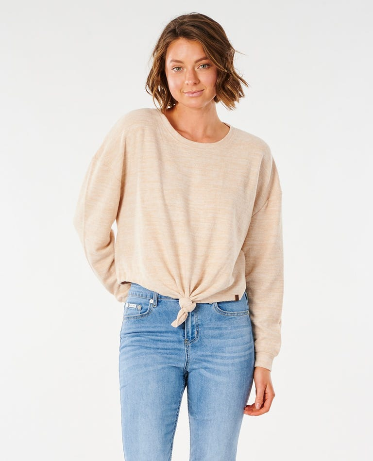Cosy Knitted Crew in Natural