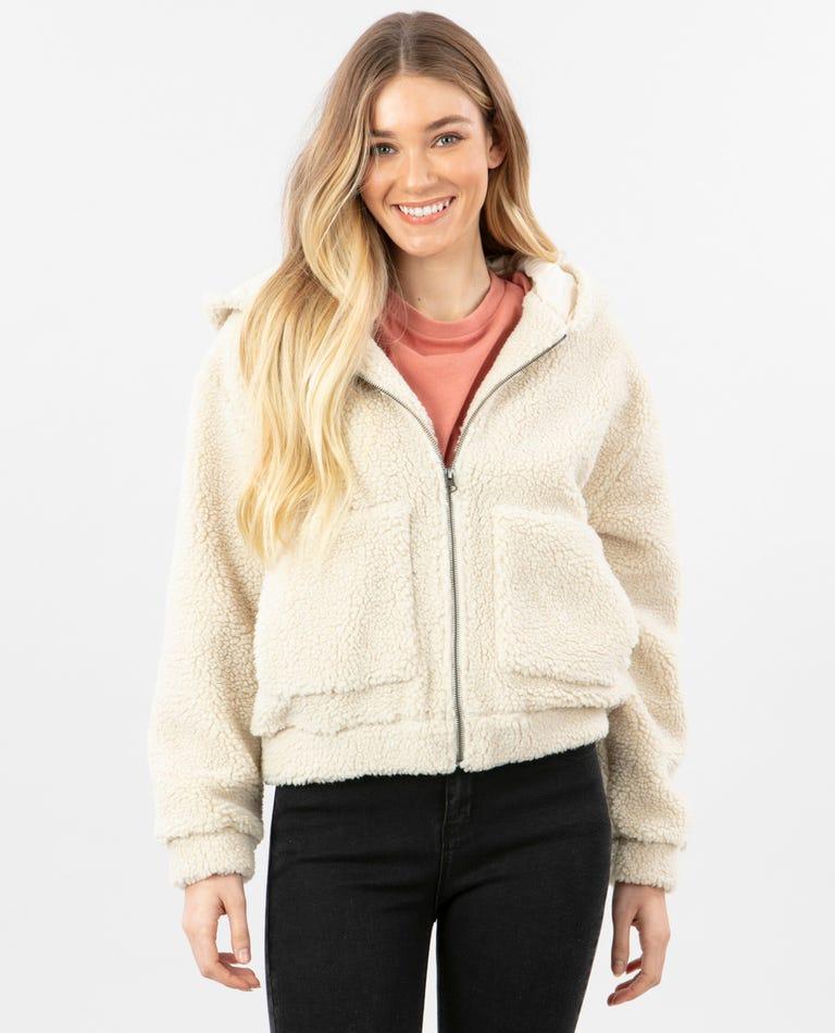 Saska Polar Fleece in Stone