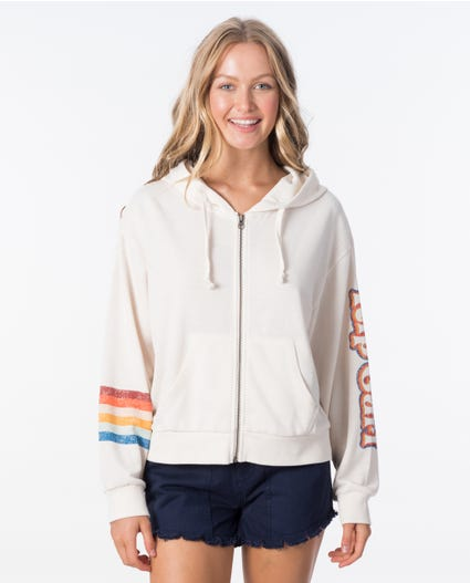 Keep On Surfin Zip Up in Bone