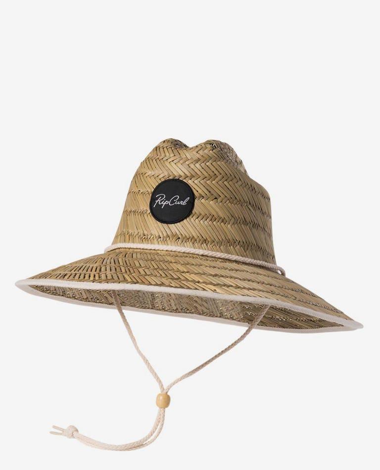 Script Straw Sun Hat in Natural