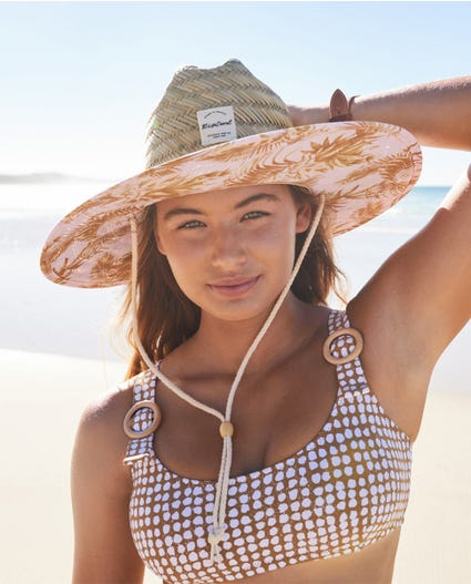 Paradise Cove Straw Hat in Lilac