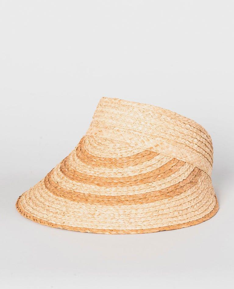 Navy Beach Panama Hat in Natural