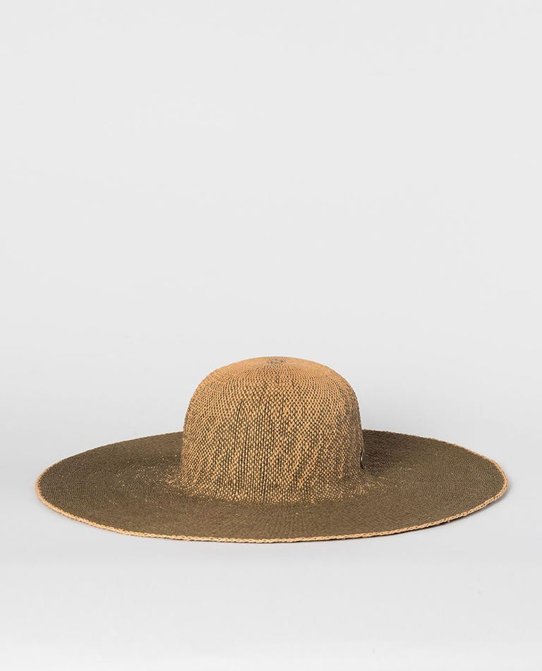 Navy Beach Boho Hat in Olive