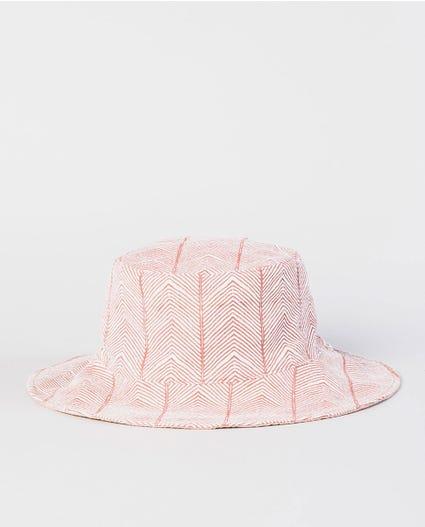 Navy Beach Reversible Bucket Hat in Dusty Rose