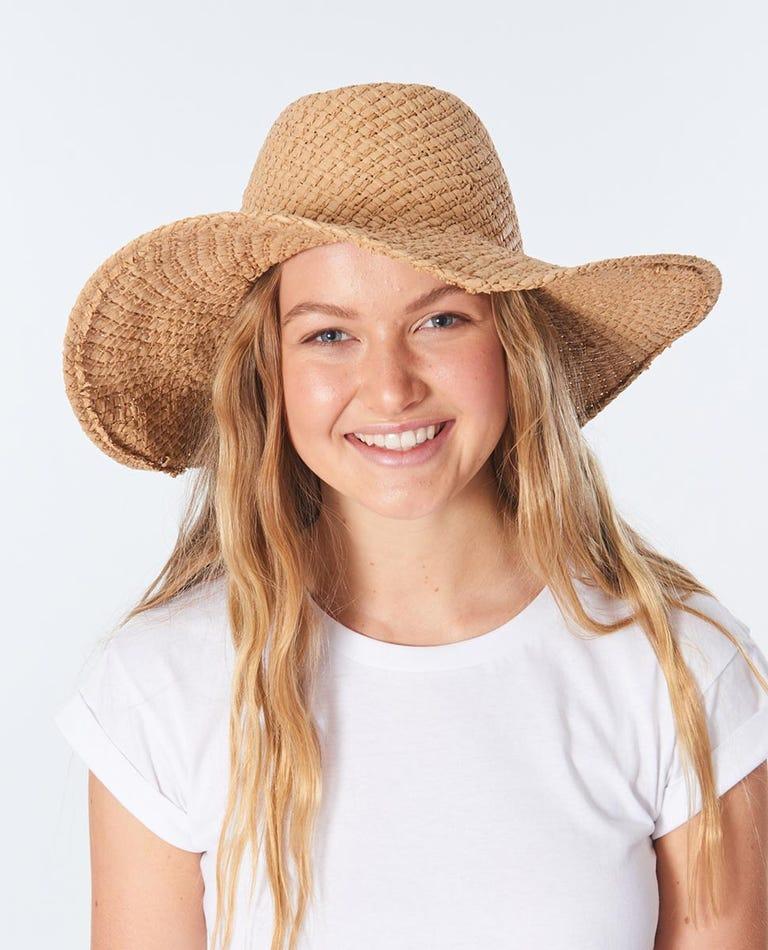 Sandy Mid Brim Boho Hat in Natural