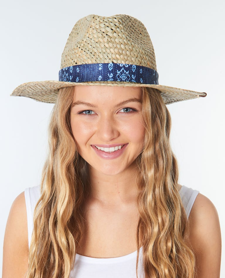 Surf Shack Straw Panama Hat in Natural