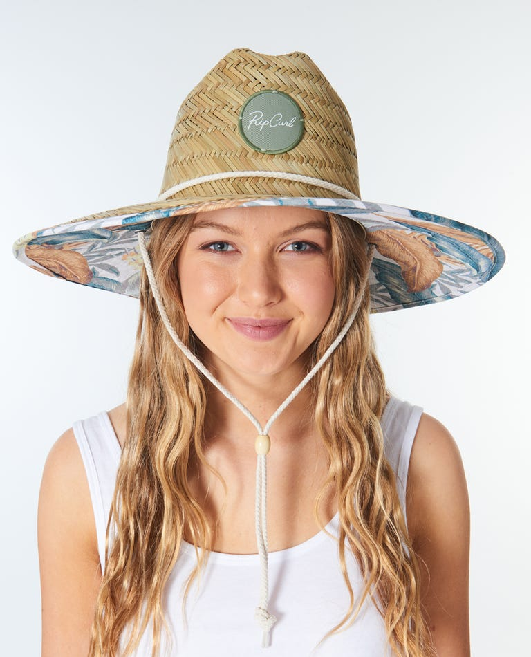 Tropic Sol Straw Hat in White